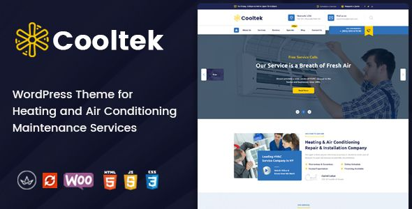 Business Theme Cooltek Air Conditioning Services Wordpress