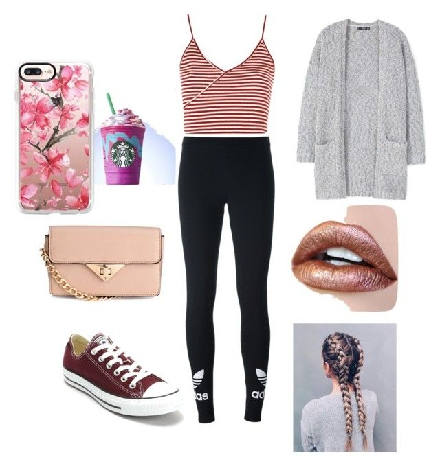 """""""the mall"""" by estherbomb on Polyvore featuring Topshop, adidas Originals, Converse, MANGO and Casetify"""