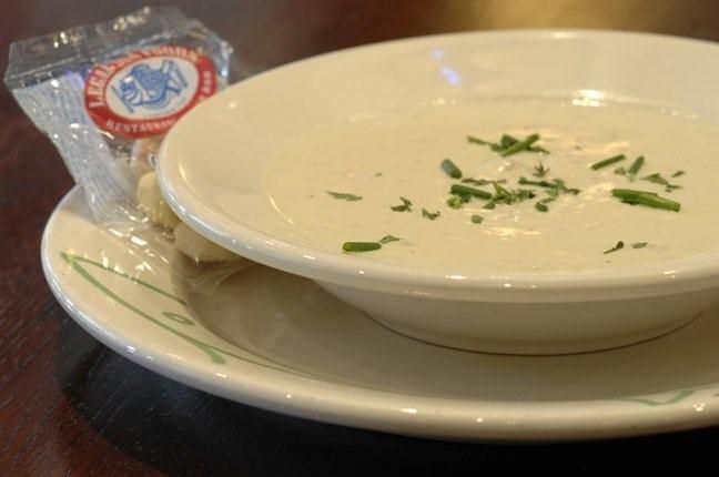 Legal Seafood Famous Clam Chowder Recipe- I would totally make this if I could get real littleneck clams in Texas.
