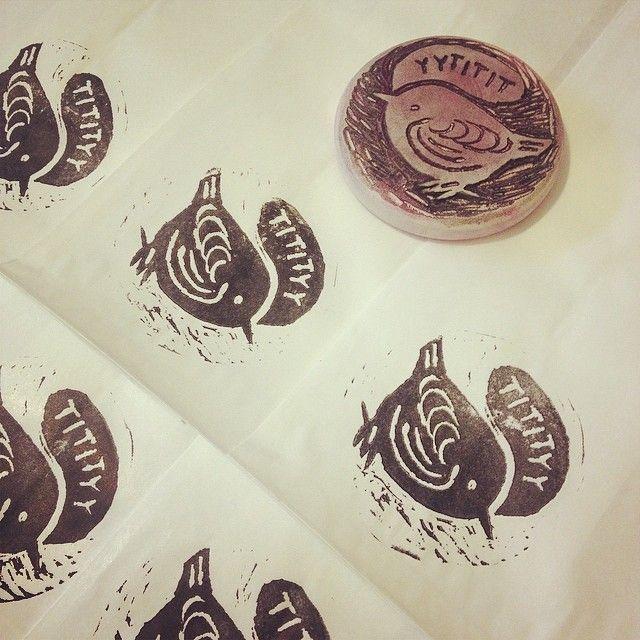 DIY Stamp for gift bags by illustrator Meri Mort.