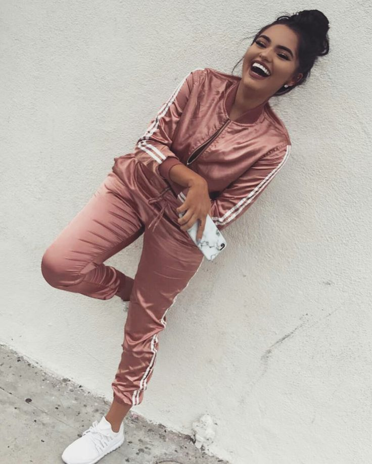 - https://www.prettylittlething.com/cruz-rose-satin-bomber-jacket.html & - https://www.missguided.co.uk/satin-cuffed-joggers-rose-gold