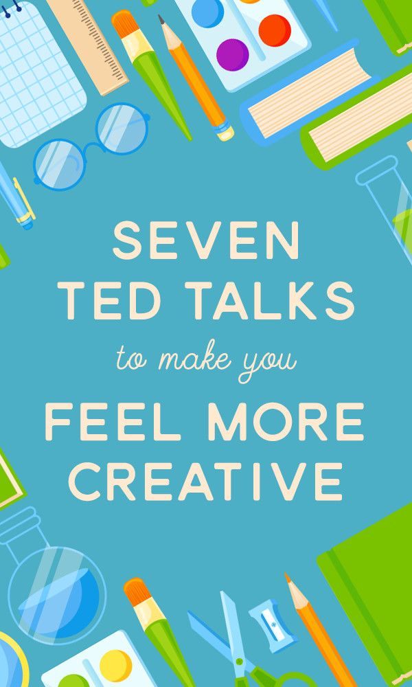 On the Creative Market Blog - 7 TED Talks That'll Make You Feel More Creative