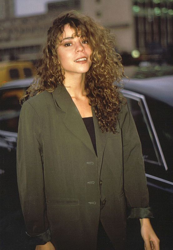 "Mariah Carey exiting the Shepherd's Bush Theatre after promoting her single ""Vision of Love"" on The Wogan Show, in 1990"