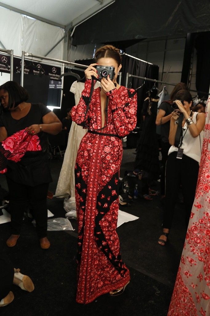 This dress...Backstage at Naeem Khan RTW Spring 2014