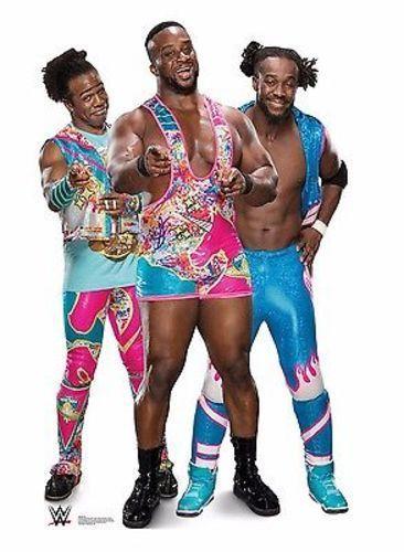 WWE New Day Big E Xavier Kofi Kingston Lifesize Standup Cardboard Cutout 2438