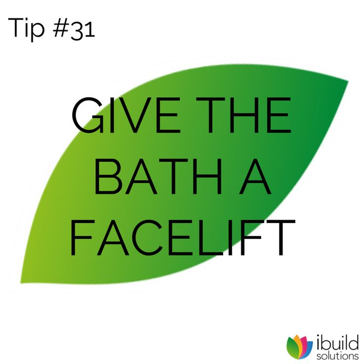 Giving a bath a face-lift is easy. You may not even need to replace it – you could just resurface it for a fresh new look.