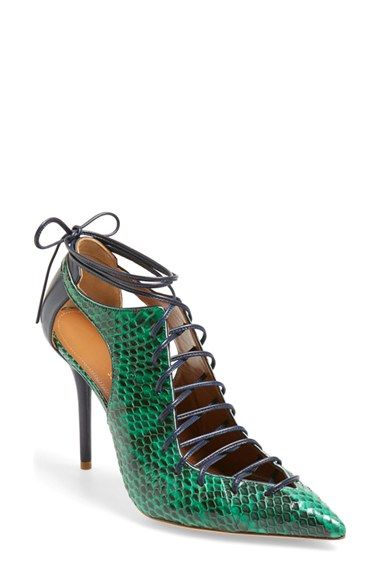 MALONE SOULIERS Montana LaceUp Pointy Toe Pump Women available at