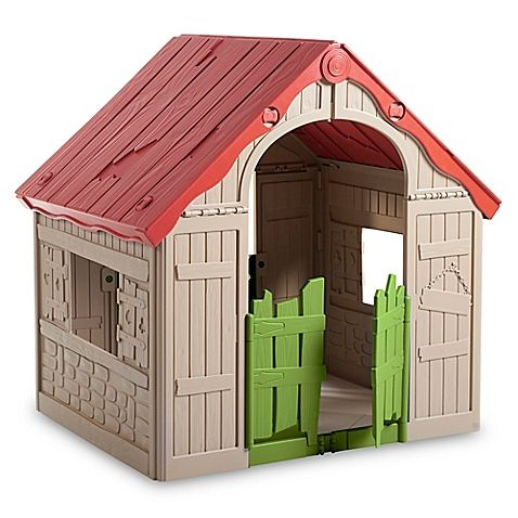 Keep your little ones entertained all day long with the Keter WonderFold 2-Step Foldable Indoor/Outdoor Playhouse. This whimsical cottage is made of lightweight plastic and is fully collapsible making it easy to fit under beds, in sheds, or in a car.