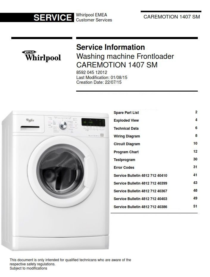 Pin On Whirlpool Washing Machine Service Manuals