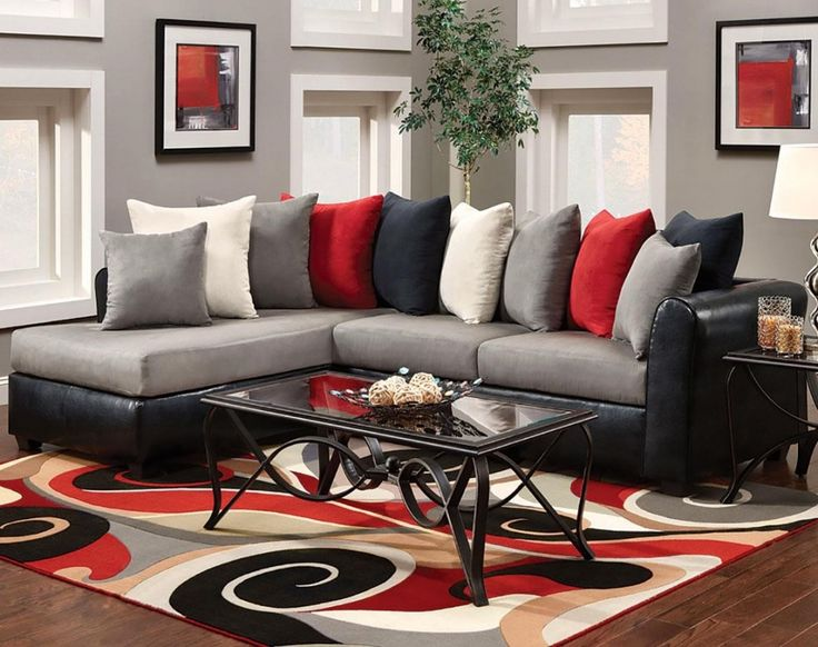 Cool Black And Red Living Room Set Pertaining To Current Property Check  More At Http: