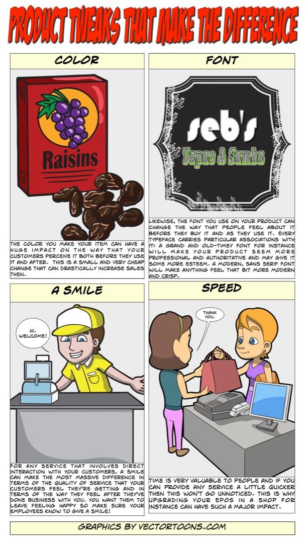 Product Tweaks That Make The Difference #comic #cartoon #article #clipart