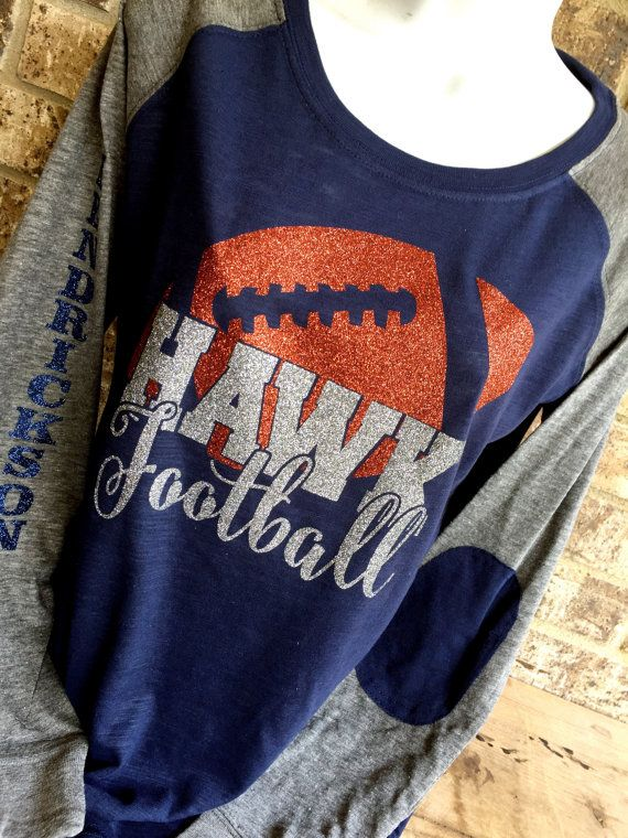 Glitter Football with School Name Inset- Customize name and colors, football mom…