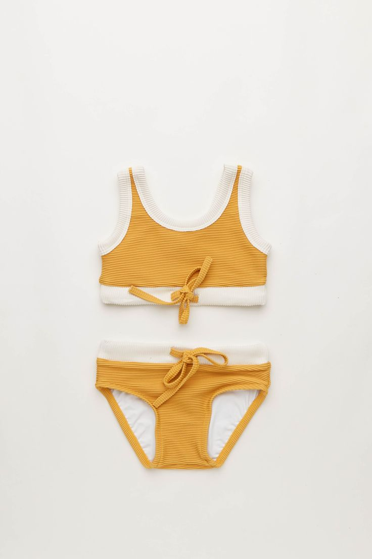 Mini Rib Bikini in Marigold   Zulu and Zephyr Mini Shop in store or online at www.saltliving.com.au #saltliving #zuluandzephyr #mini