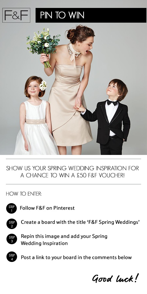 Terms and Conditions for this Pin To Win competition can be found here: http://blog.clothingattesco.com/pin-to-win-spring-weddings-pinterest-competition-terms-and-conditions/
