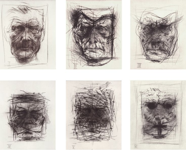 Drypoint etchings - Alan Flood