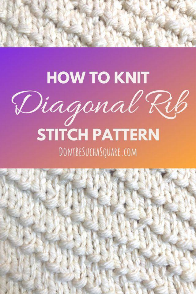 Quick Garter Stitch Diagonal Knit Dishcloth Pattern