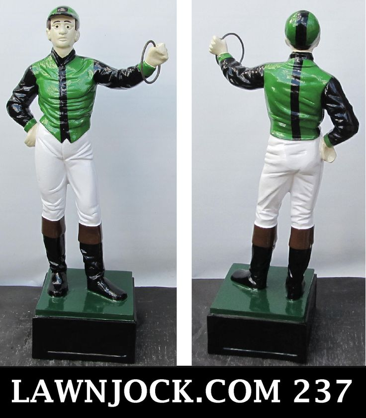 The traditional lawn jockey statue is taking back America's boring suburban neighborhoods one yard at a time. Your lawn is next! Want an REAL METAL jock professionally painted using 2 coats of high gloss enamel like this one shipped directly to your mansion in about 3 weeks? Visit lawnjock.com for a price quote today and reference custom example #237.