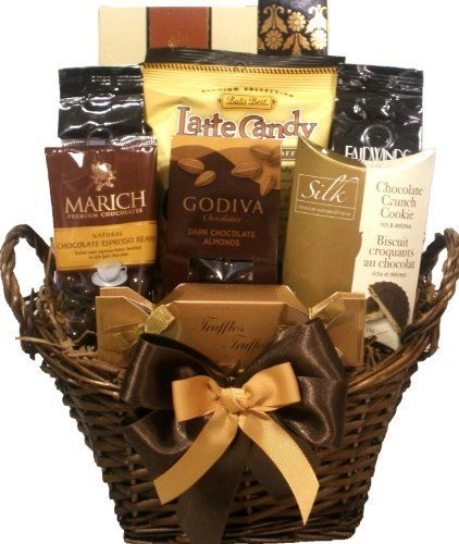 This Coffee and chocolate Gift Basket will delight any coffee and chocolate lover. It comes filled with an assortment of coffees, espresso beans, Godiva chocolate Almonds, a coffee latte candy bag, Capuccino wafer roll, chocolate truffles, truffles cookies and wafers. All of our Gift Baskets are... more details available at https://perfect-gifts.bestselleroutlets.com/gifts-for-holidays/grocery-gourmet-food/product-review-for-delight-expressions-coffee-and-chocolate-lovers-gou