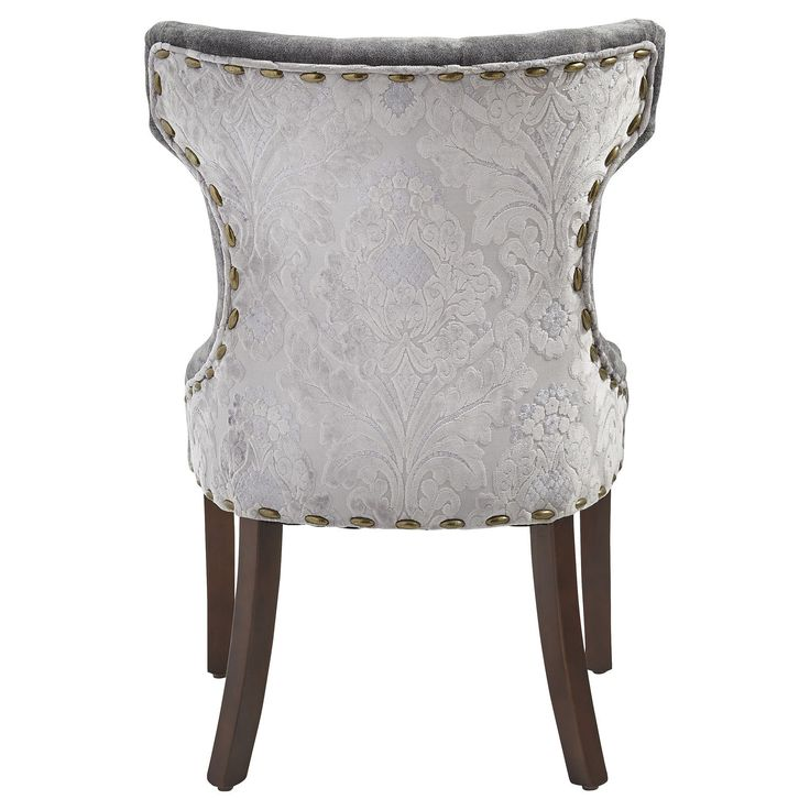 hourglass dining chair gray damask dream home