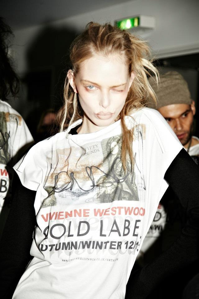 Backstage at Vivienne Westwood Autumn/Winter 2012-13