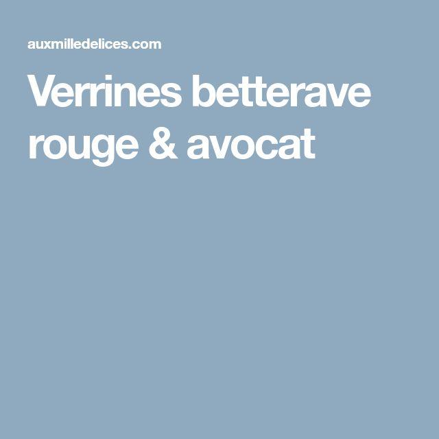 Verrines betterave rouge & avocat