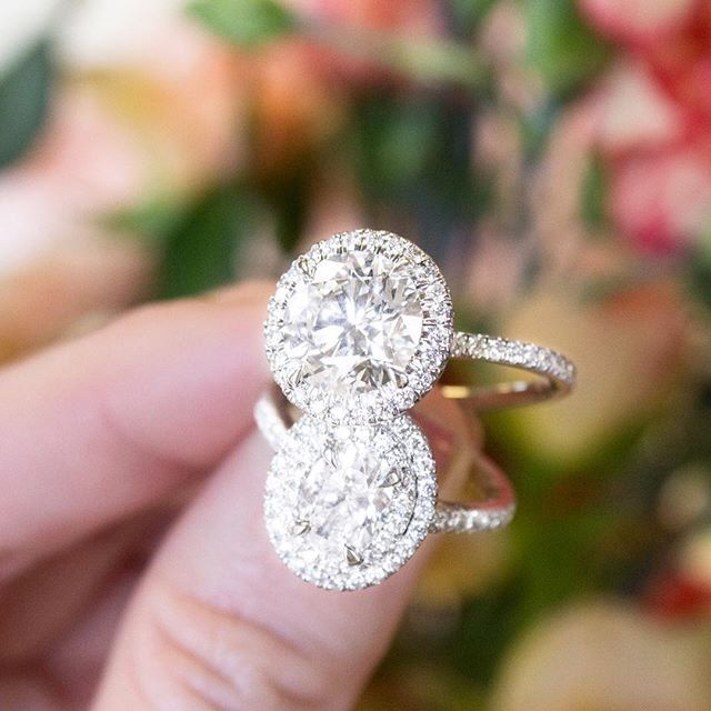 Which Halo Engagement Ring Is Your Favorite The Waverly Diamond Ring Or The Soleil Diamond Brilliant Earth Halo Ring Engagement Ring On Hand Engagement Rings