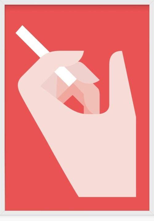 #graphic #design #smoke #cigarette #hand #illustration