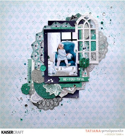 'BE-YOU-TIFUL' Layout + Step By Step Tutorial by Tatiana Yemelyanenko Design Team member for Kaisercraft Official Blog using their 'Ubud Dreams' collection. (January 2017) Learn more at kaisercraft.com.au/blog - Wendy Schultz ~ Scrapbook Layouts.