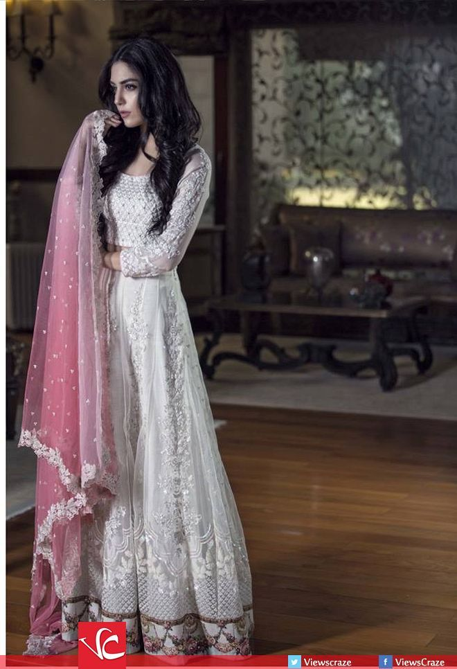Maria B Mbroidered Fabrics Collection 2016 with Maya Ali