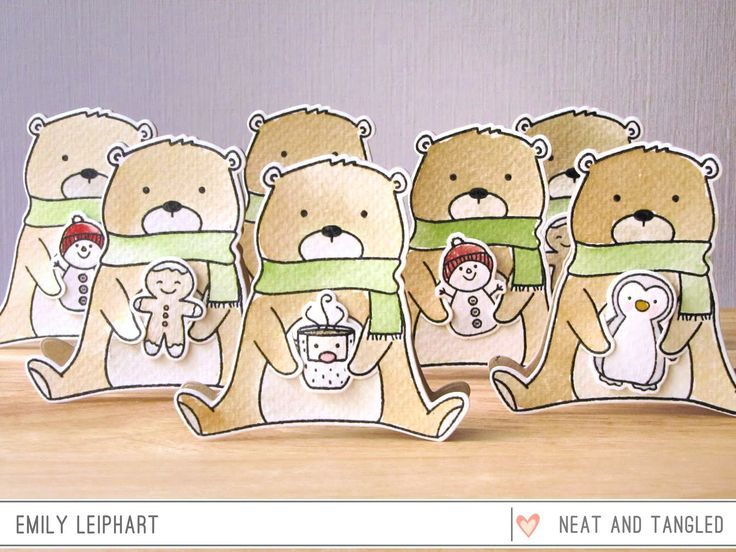 Neat and Tangled: Beary Cute Lunchbox Notecards
