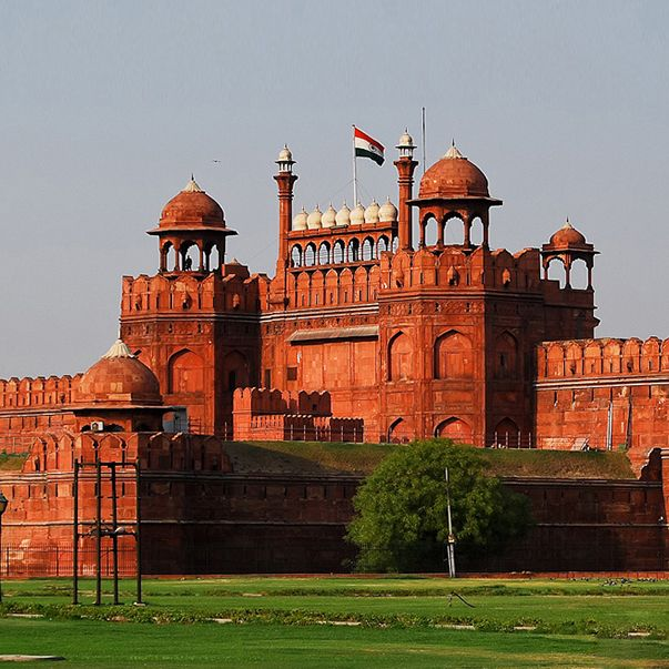 Red Fort was the residence of which Mughal Emperor?