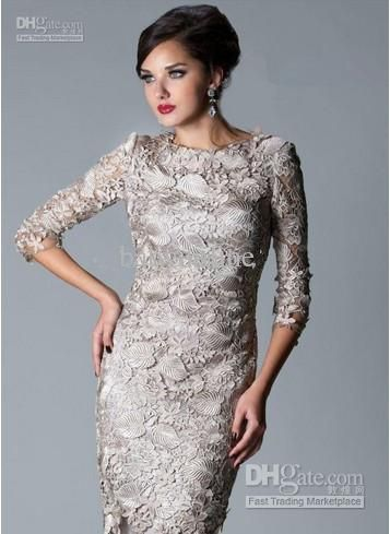 Cheap Prom Dress - Discount Sleeveless Knee Length Formal Dresses Lace Sheath Mother Online with $133.89/Piece   DHgate