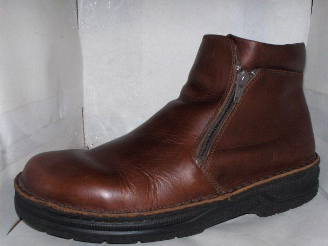 MENS NAOT BROWN LEATHER ANKLE BOOTS SIZE  11/44 ZIPPER #NAOT #Oxfords #Casual