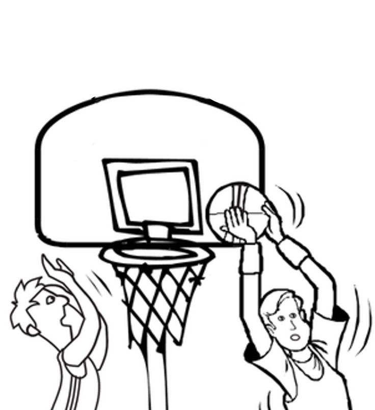 best basketball coloring pages - photo#15