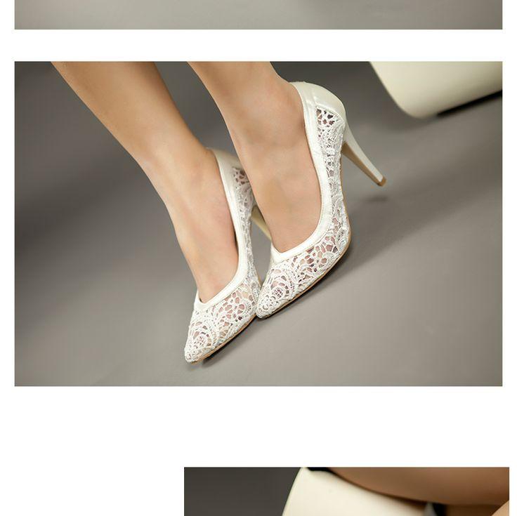 2014 женщин вырез атласная ткань размер 32 на высоких каблуках сексуальные кружевные свадебные туфли мелкая рот острым носом из натуральной кожи невесты туфли на высоком каблуке, принадлежащий категории Насосы и относящийся к Обувь на сайте AliExpress.com | Alibaba Group