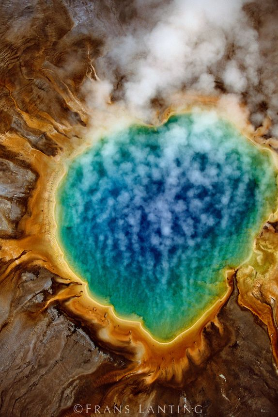 Grand Prismatic Spring (aerial), Yellowstone National Park, Wyoming