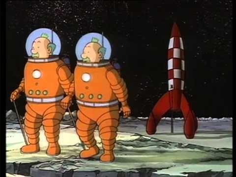 Kuifje 15 Mannen op de Maan tekenfilm