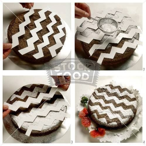 cake decoration idea...chevron brownies, too cute!