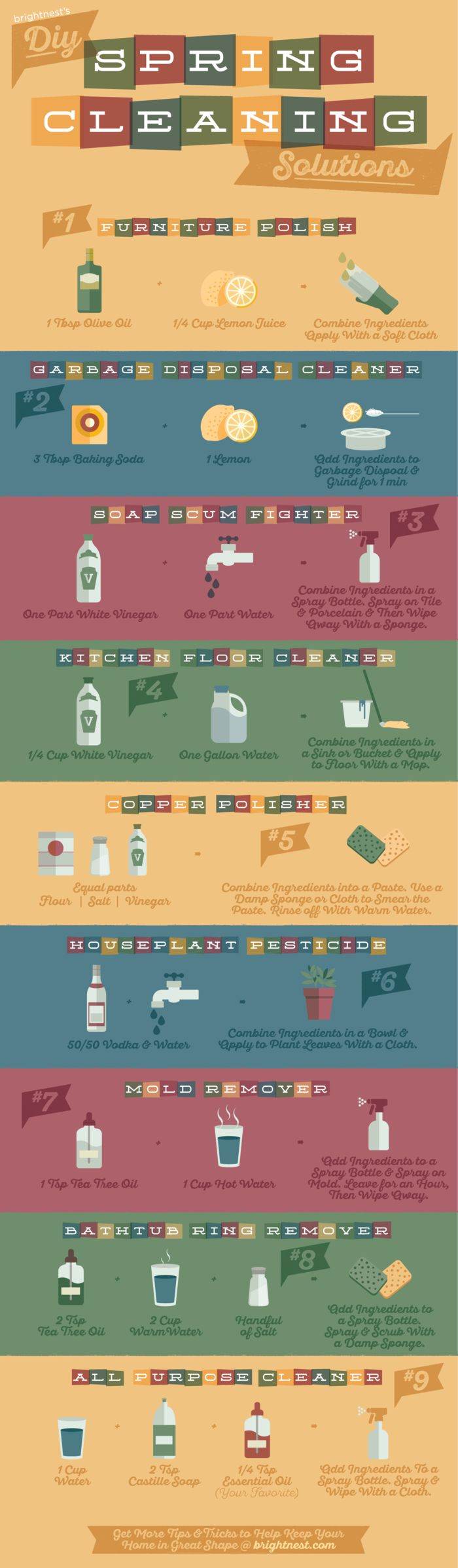 9 DIY Spring Cleaning Solutions (Printable!)