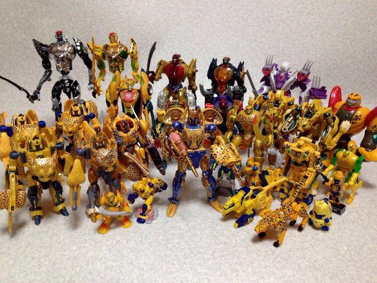 Transformers Masterpiece MP-34 Cheetus (Cheetor) with Beast Wars and Beast Machines Cheetors