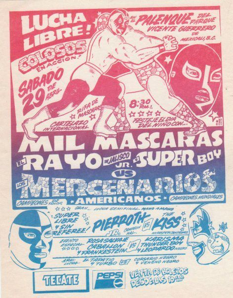 Great Lucha Libre poster w/ Mil Mascaras