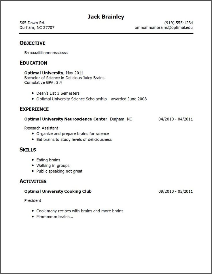 308 best resume examples images on Pinterest Sample html - resume for fast food