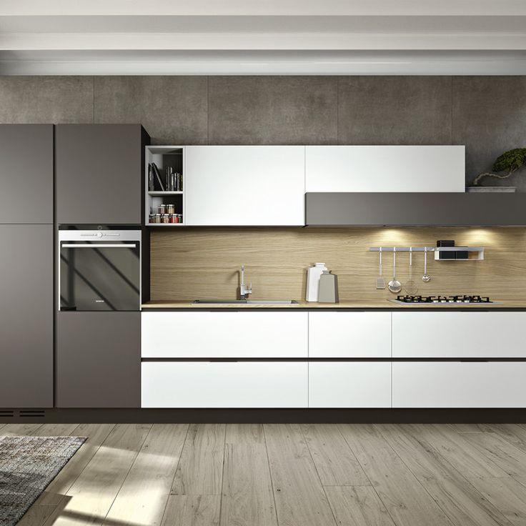 Cucine Ad Angolo Moderne Piccole: Cucina con penisola e cappa angolare Sfera DIOTTI A&F.