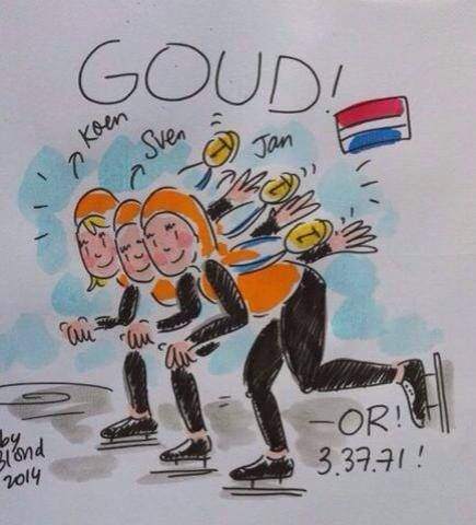 Gold!! Teampursuit. Olympics Sochi 2014