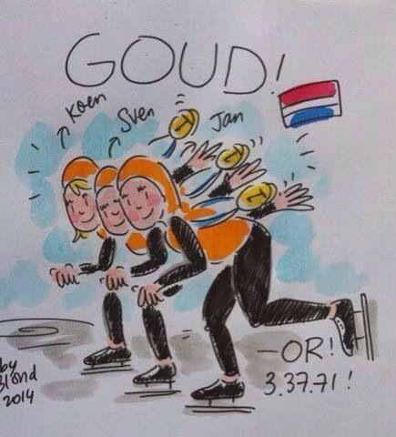 Gold!! Teampursuit. Olympics Sochi 2014