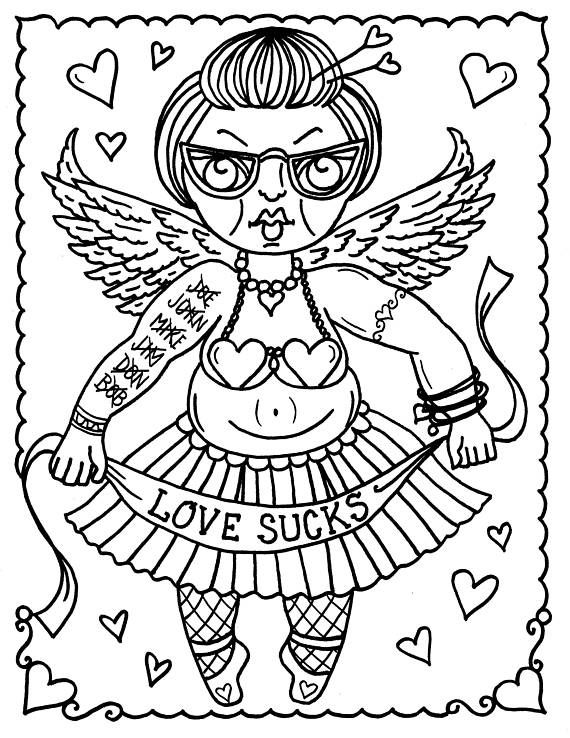 5 Pages Digital Old Grumpy Funny Valentines Jpg Files To Etsy Valentine Coloring Pages Cute Coloring Pages Coloring Pages