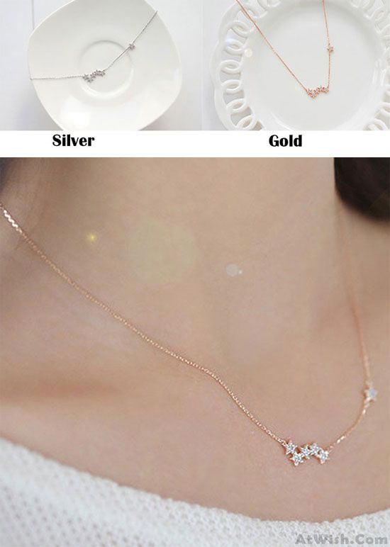 df328842c62 Fashion Women's Pentagon Stars Clavicle Chain Short Gold-plated Necklace  for big sale! #star #necklace #fashion