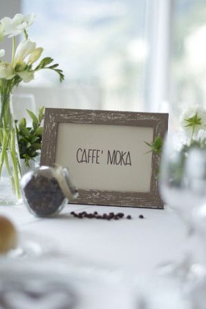 coffee inspired table number http://weddingwonderland.it/2015/05/matrimonio-a-tema-caffe.html