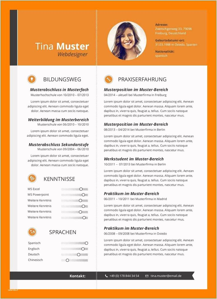 Lebenslauf Muster Karrierebibel in 2020 Resume examples