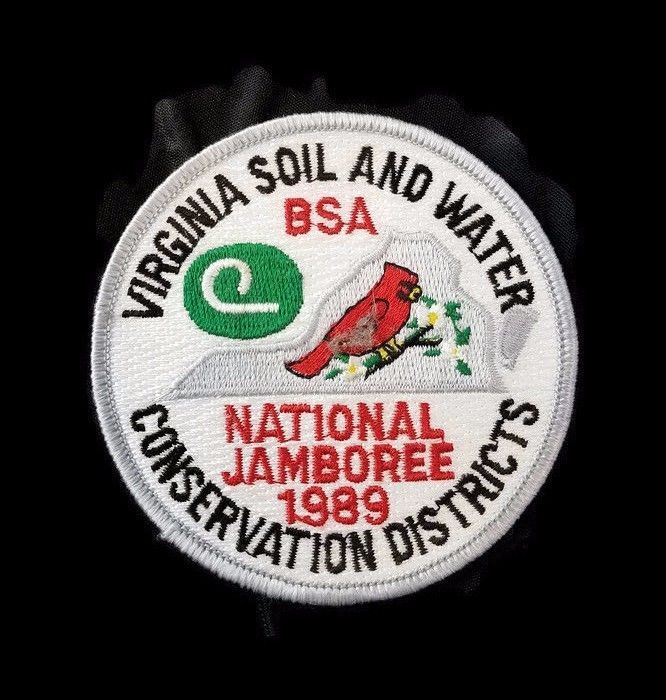 Boy Scout National Jamboree 1989 Virginia Soil and Water Conservation Patch